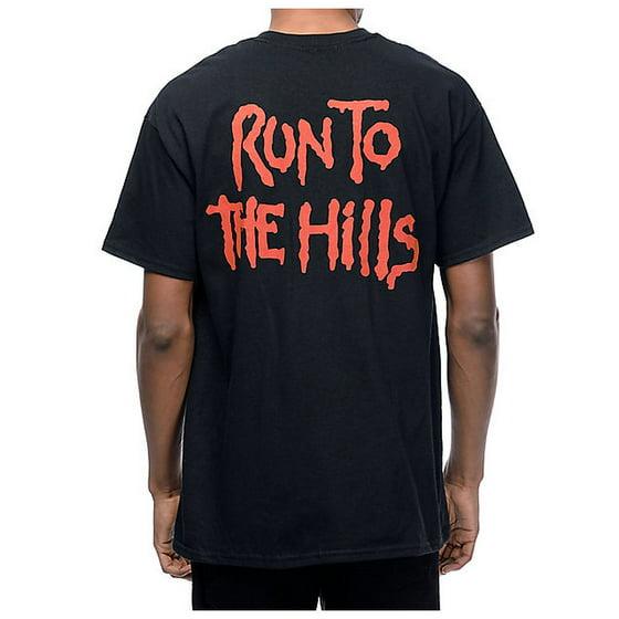 718df9ef0b0 Global - Iron Maiden Run To The Hills T-Shirt - Walmart.com