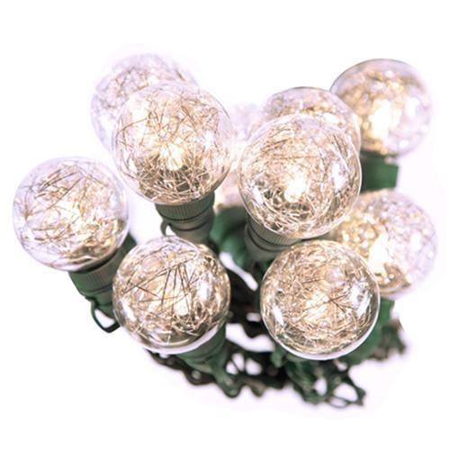Bethlehem 20 LED 25ft G40 Tinsel String Lights Christmas Holidays Indoor Outdoor Warm White