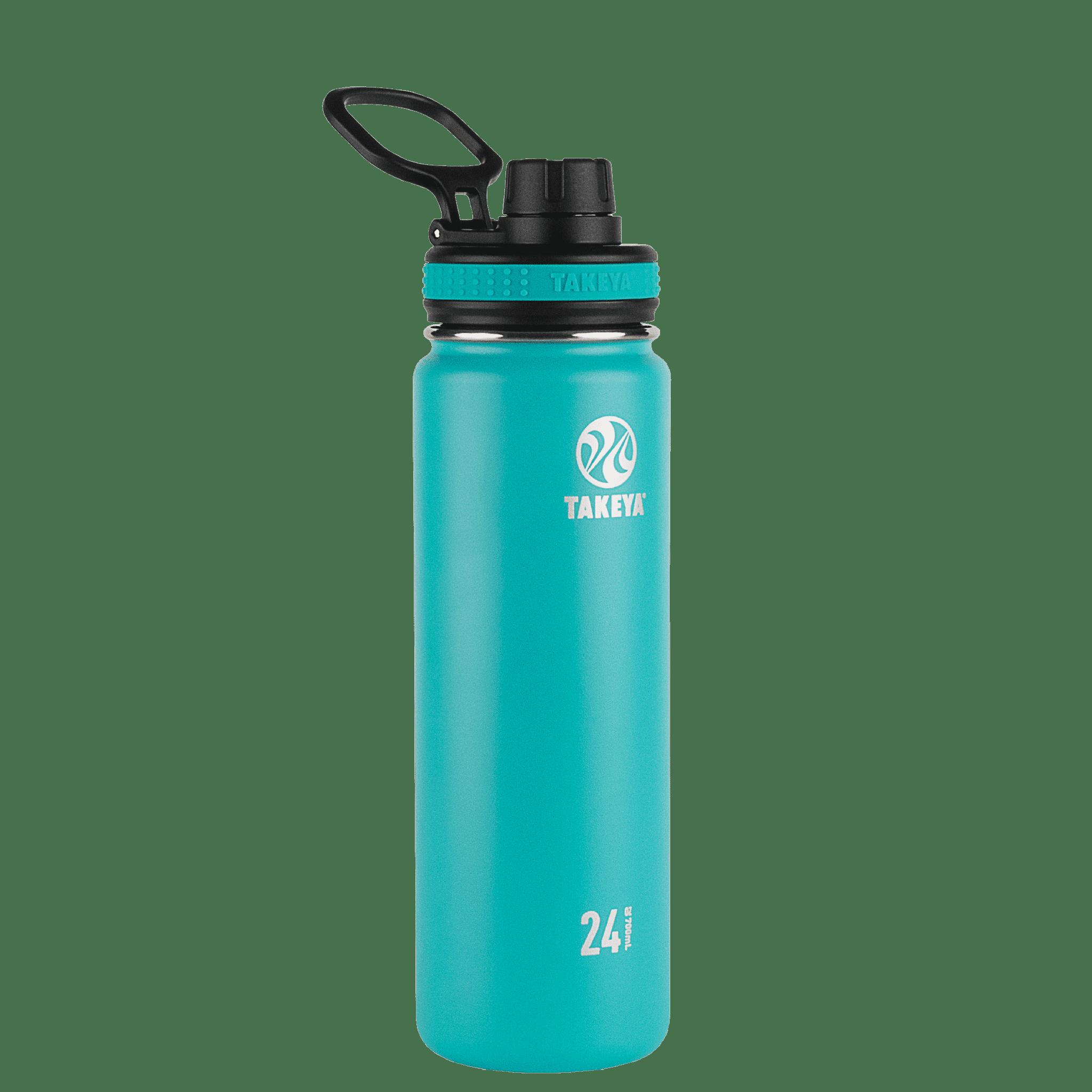 Takeya Originals Stainless Steel Water Bottle w/Spout lid, 24oz Ocean