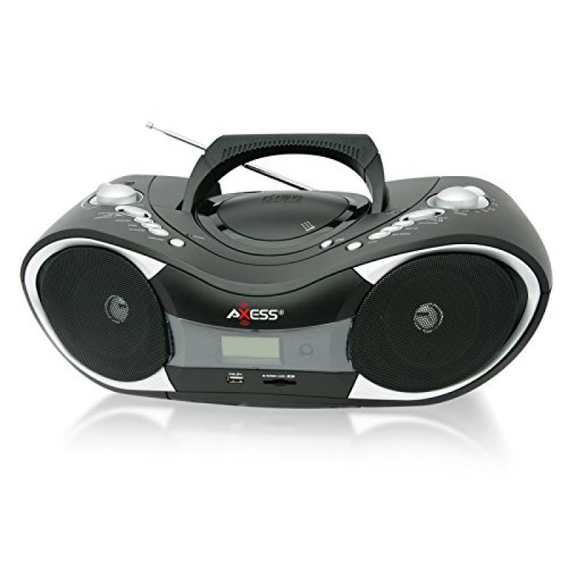 Axess Portable CD MP3 Boombox by Axess