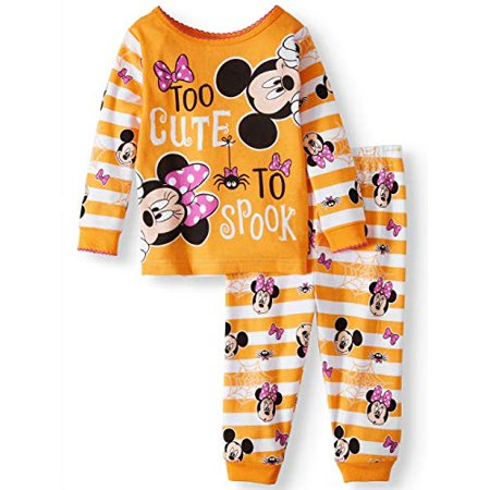 Baby Minnie Mickey Mouse Holiday Halloween Pajamas (Minnie Too Cute, 9m) (Mickey And Minnie Halloween Countdown)