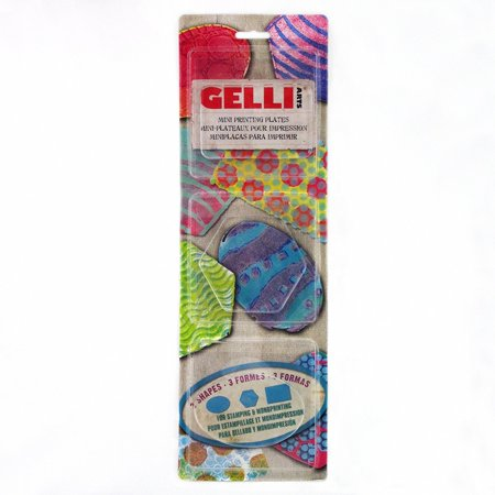 Gel Prntng Plate Minis Rct Ovl Hex  Monoprinting Without A Press  By Gelli Arts Ship From Us