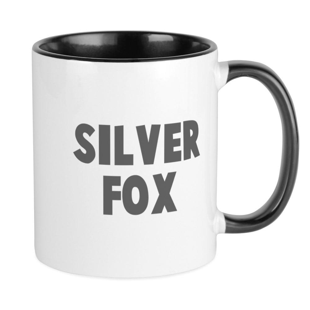 CafePress - Silver Fox Mugs - Unique Coffee Mug, Coffee ...