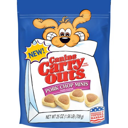 Canine Carry Outs Pork Chip Minis Dog Snacks, 25