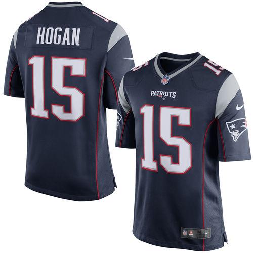 Men's Nike Chris Hogan Navy New England Patriots Game Jersey