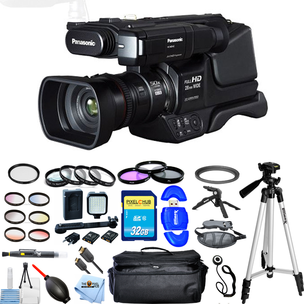Panasonic HC-MDH2 AVCHD Shoulder Mount Camcorder (PAL)!! ALL YOU NEED KIT New!! by Panasonic