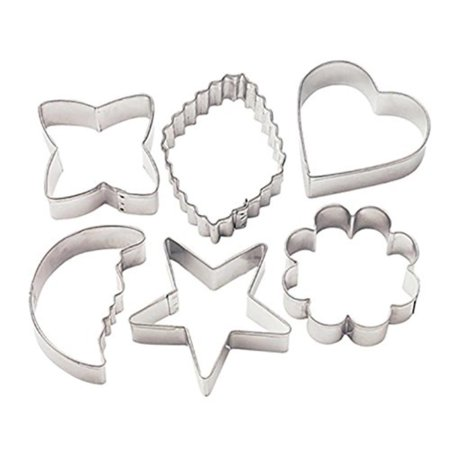 Metal Cookie Cutters - Classic Shapes, Includes geometric, crinkle diamond, flower, half moon, heart and star cutters By Wilton ()