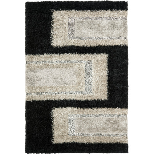 Area Rug in Black and Grey (6 ft. L x 4 ft. W)