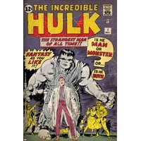 Marvel Comics Retro: The Incredible Hulk Comic Book Cover No.1, with Bruce Banner (aged) Print Wall Art