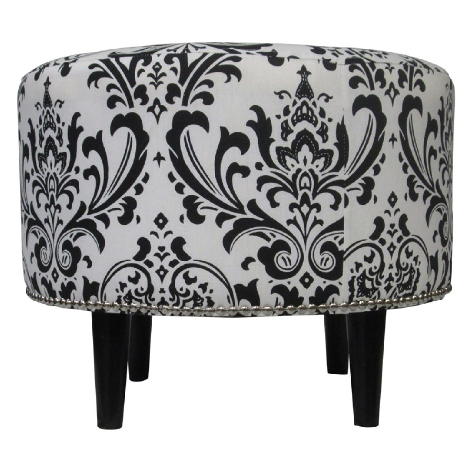 Sole Designs Traditional Sophia Collection Upholstered Ottoman