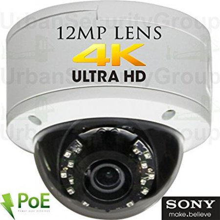 Usg Sony Dsp Ultra 4K 8Mp 3840X2160   30Fps H 265 Ultra Hd Ip Poe Network Dome Security Camera   12Mp 5Mm Lens  Onvif 2 4  Weatherproof  18X 14  Ir Leds  Audio  Alarm  Microsd Slot   Free Phone App