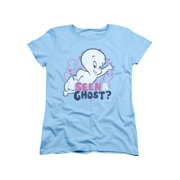 Casper The Friendly Ghost Cartoon Seen A Ghost? Faded Retro Women's T-Shirt