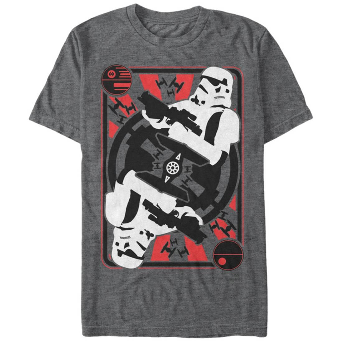 Star Wars- Trooper Card Apparel T-Shirt - Grey
