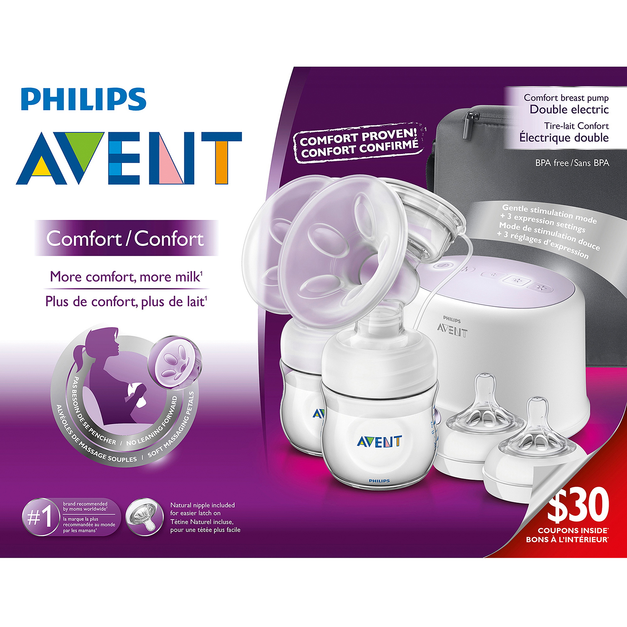 Philips Avent Double Electric Breast Pump, SCF334/12