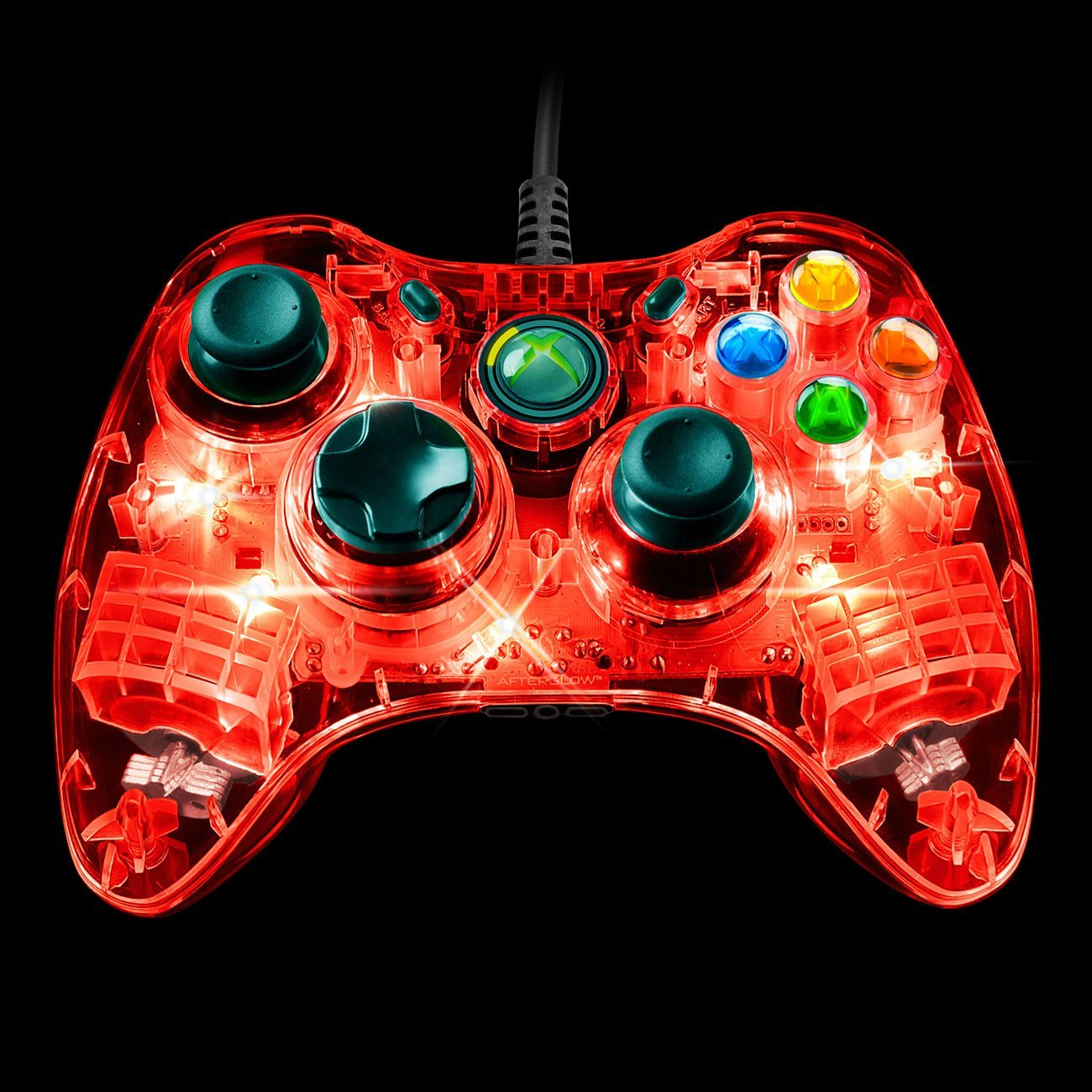 Pdp Microsoft Afterglow Wired Controller For Xbox 360 Red