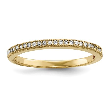 925 Sterling Silver Gold Plated Cubic Zirconia Cz Band Ring Size 6.00 Wedding Fancy Gifts For Women For Her