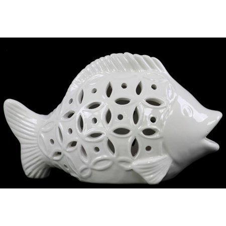 Urban Trends Cutout Sides Fish Figurine (Fish Cutout)