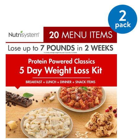 (2 Pack) Nutrisystem 5 Day Protein Powered Jumpstart Weight Loss Kit, 3.9 lbs, 15 Meals and 5