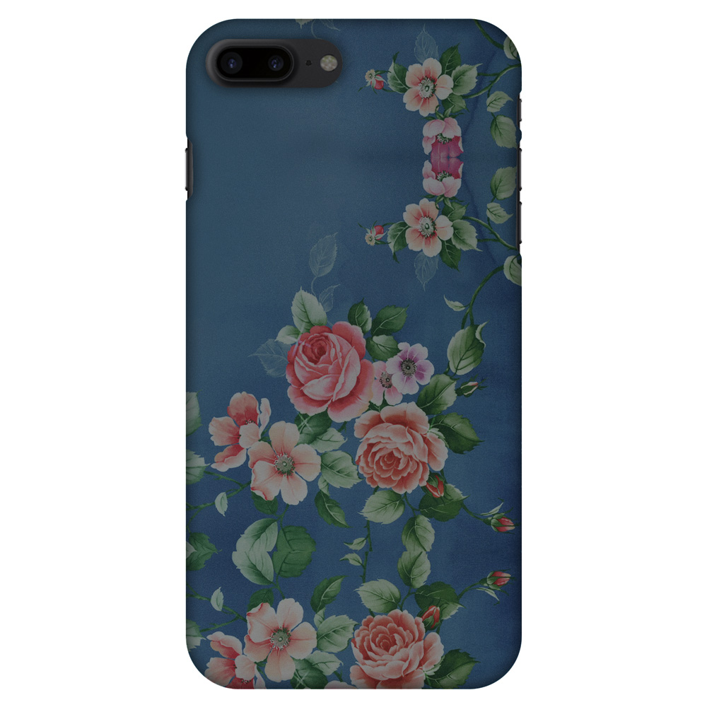 iPhone 8 Plus Designer Case, Premium Handcrafted Printed Designer Hard ShockProof Case Back Cover for iPhone 8 Plus - Rose Print Provencal
