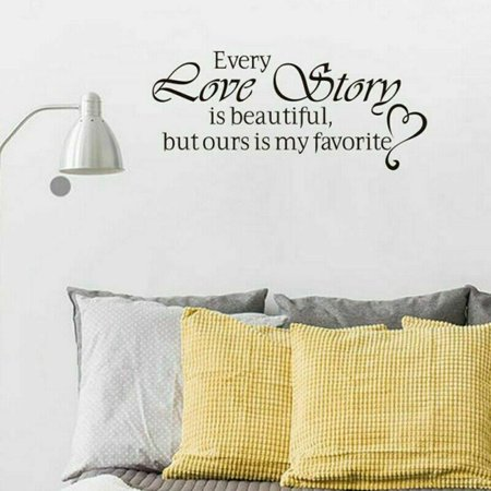 TURNTABLE LAB Every Love Story Is Beautiful Wall Motto Home Decor Lettering Sticker Latest