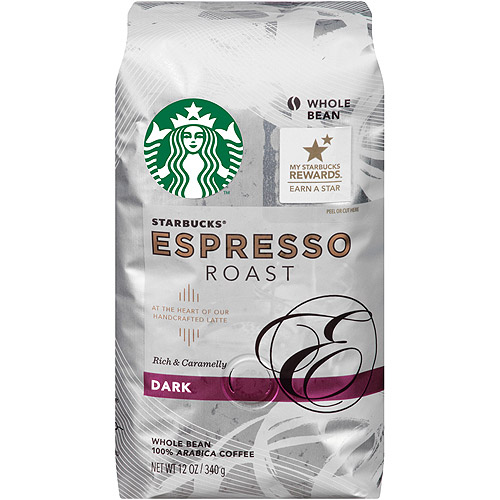 Starbucks�� Espresso Roast Rich & Caramelly Dark Coffee 12 oz. Package