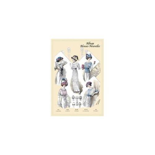 Album Blouses Nouvelles: Five Jaunty Fashions 12x18 Giclee On Canvas