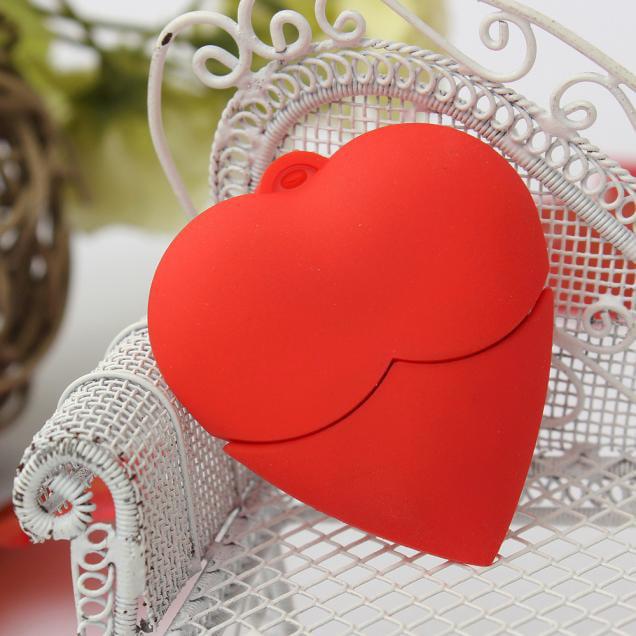 Womail 1GB Love Heart USB 2.0 Metal Flash Memory Stick Storage Thumb U Disk
