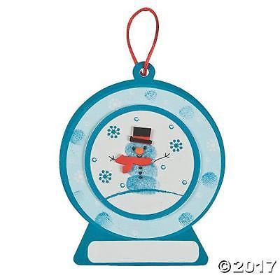 IN-48/8476 Thumbprint Snowman Ornament Craft Kit  By Fun Express