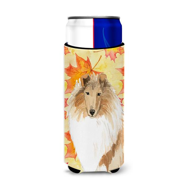 Carolines Treasures Ck1830muk Fall Leaves Rough Collie Michelob Ultra Hugger For Slim Cans Walmart Canada