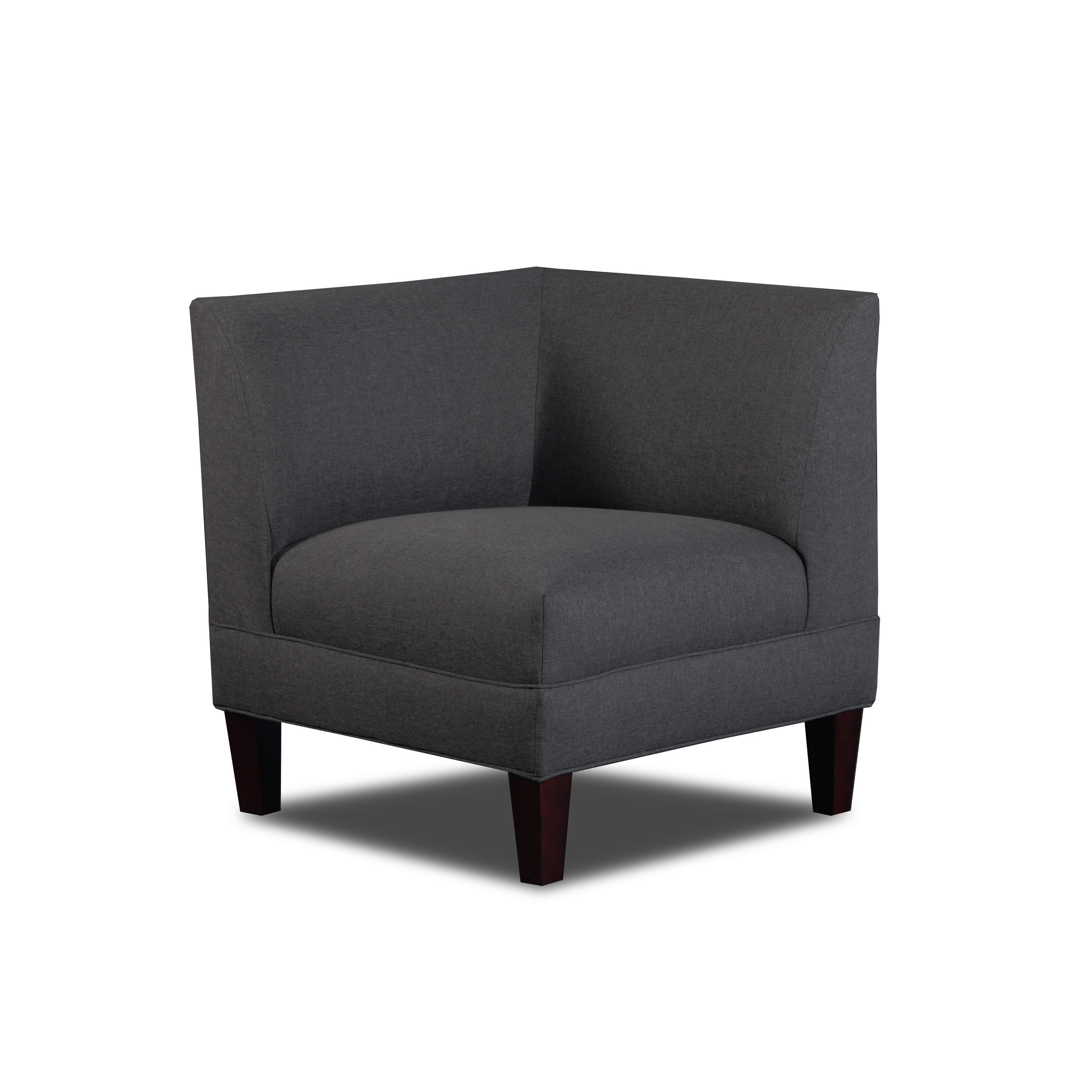 Carolina Accents Briley Corner Chair Gray by Overstock