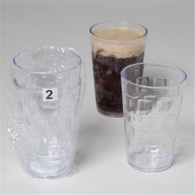 DDI 1909750 Tumblers Glass-Look, Clear - 18 oz.