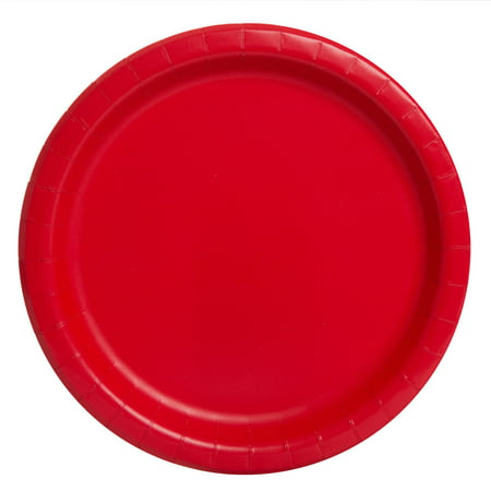 Red Paper Dessert Plates, 7in, 20ct (Solid Color Paper Plates)
