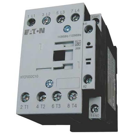 EATON XTCF045C10B 240VAC Non Reversing IEC Magnetic Contactor 4P 25A
