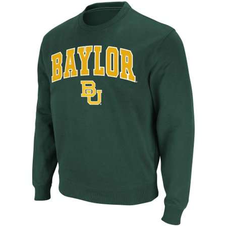 Baylor Bears Stadium Athletic Arch & Logo Crew Pullover Sweatshirt - Green