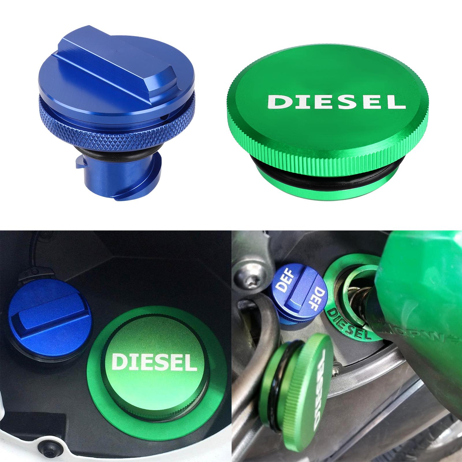 Blue DEF Cap Covers For 2013-2018 Dodge Ram Magnetic Aluminum Diesel Fuel Cap
