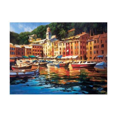 Portofino Colors Colorful Italian Coastal Village Landscape Print Wall Art By Michael O'Toole