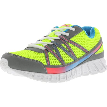 977958559d4a5 Fila Girl's Flicker Safety Yellow / Monument Diva Pink Ankle-High Running  Shoe - 6M