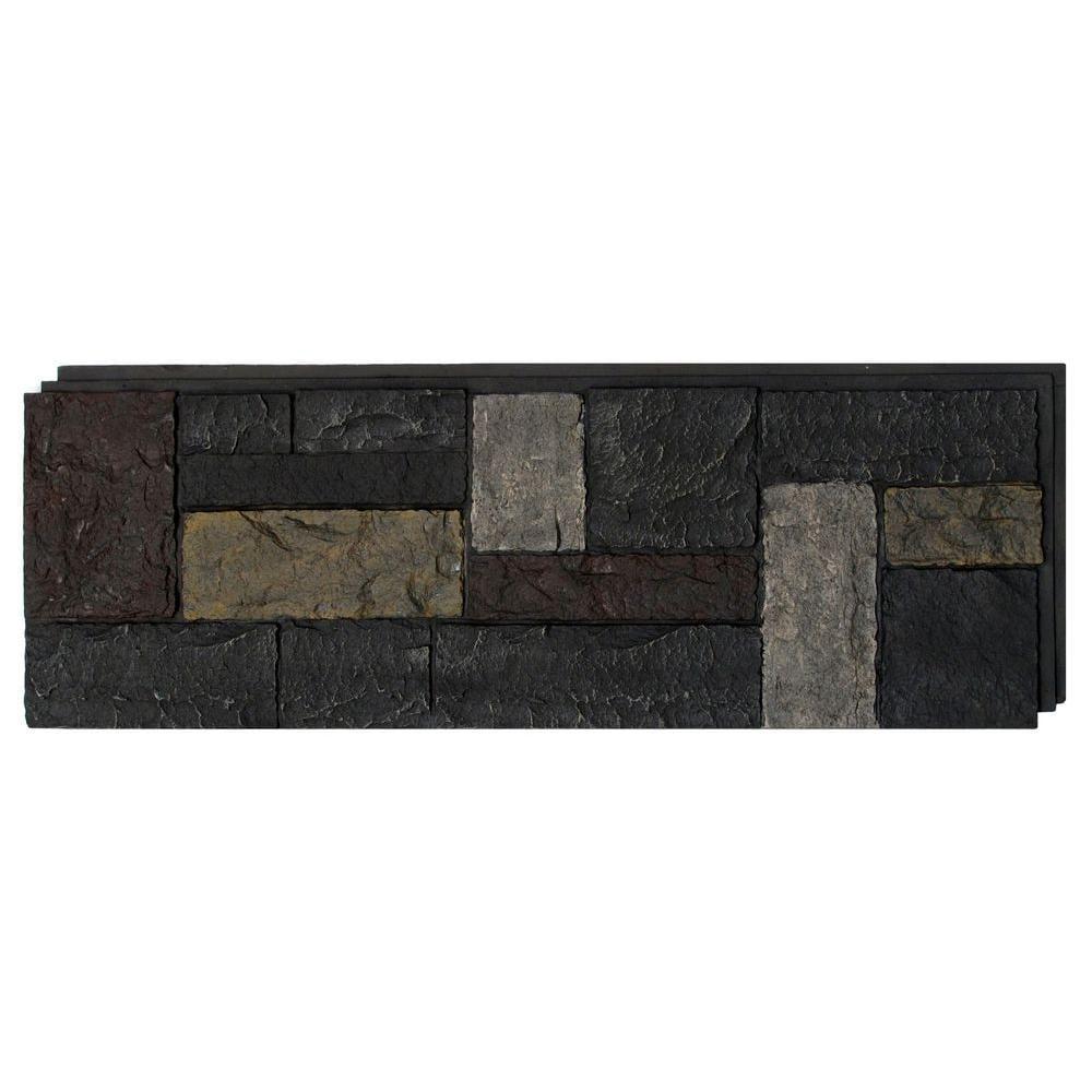 NextStone Castle Rock 16.12-Sq Ft Ashford Charcoal Faux Stone Veneer C