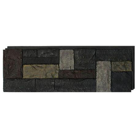 NextStone™ Faux Polyurethane Stone Panel - Castle Rock Ashford Charcoal