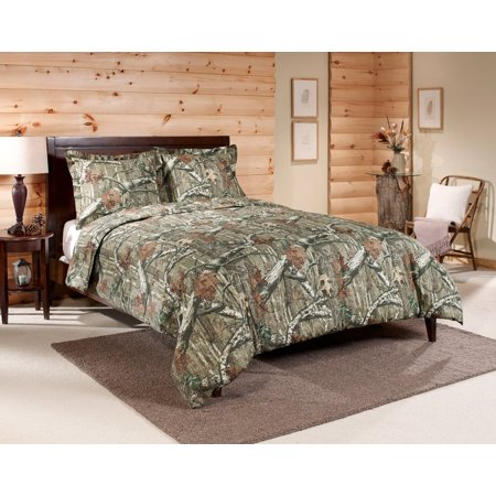 Croscill Queen Size Comforter - Mossy Oak Infinity Queen Comforter Set, 3 Piece