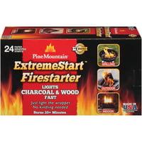 Pine Mountain StarterLogg ExtremeStart Firestarter, Compact, Wrapped Easy Starters, 24 Pack