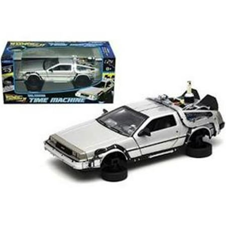 Delorean from movie Back To The Future 2 Flying Version 1-24 Diecast Car Model by Welly