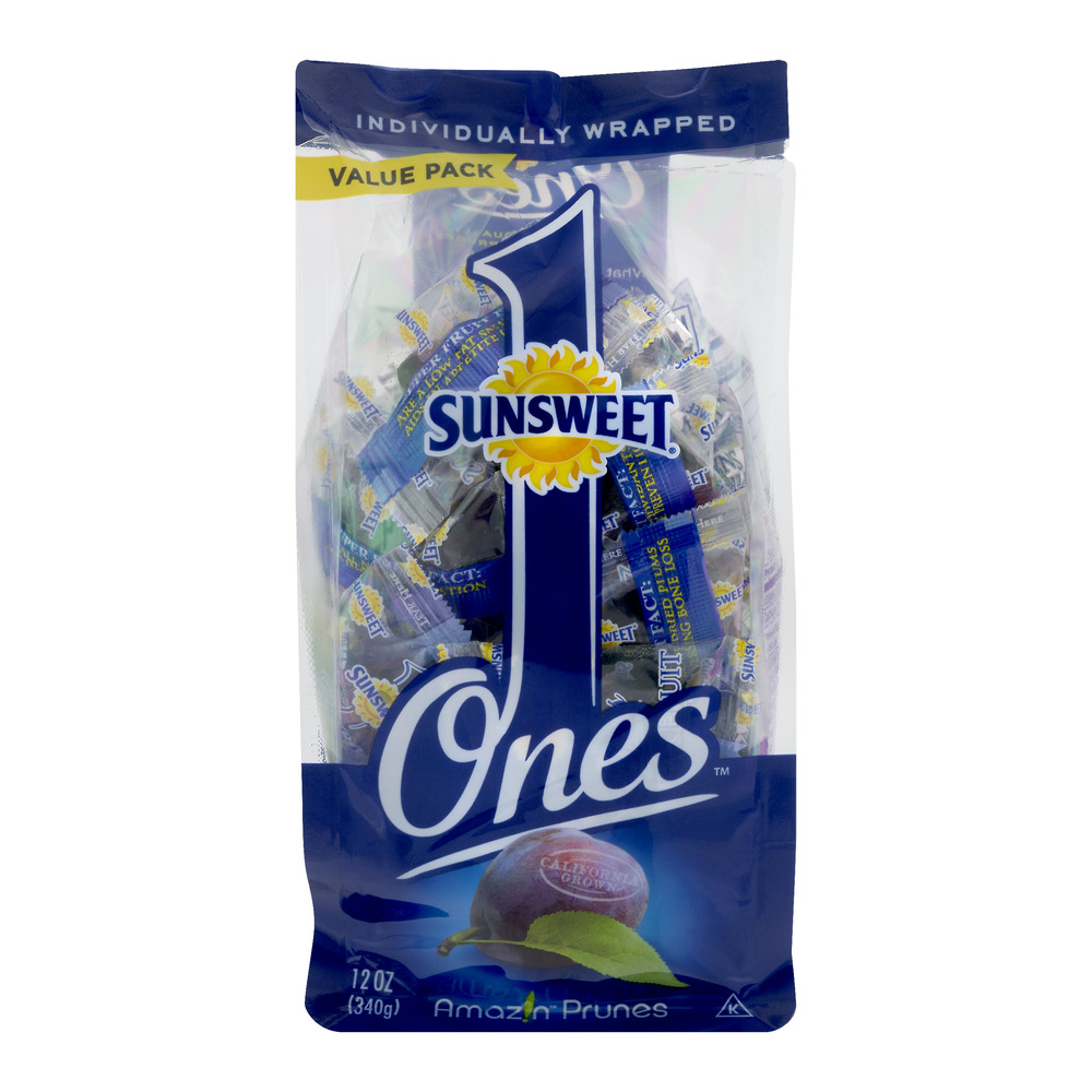 Sunsweet Ones Dried Prunes Value Pack, 12 Oz, Individually Wrapped