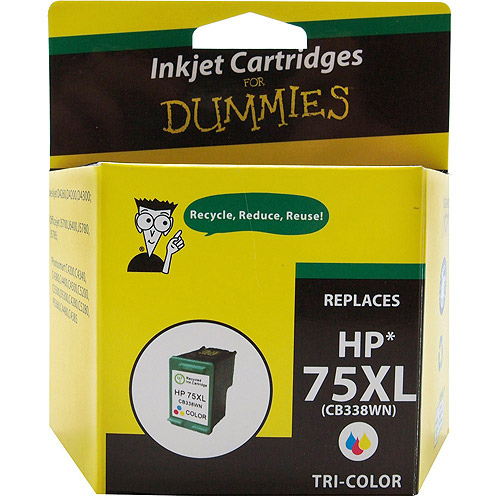 For Dummies Remanufactured Hewlett Packard 75XL Tri-Color Inkjet Cartridge