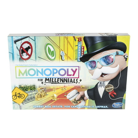 Monopoly for Millennials Board Game Ages 8+