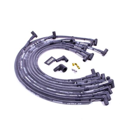 Moroso 73817 8.65 mm 90 deg Ultra 40 Plug Wire Set for Small Block Chevy, Black - image 1 of 1