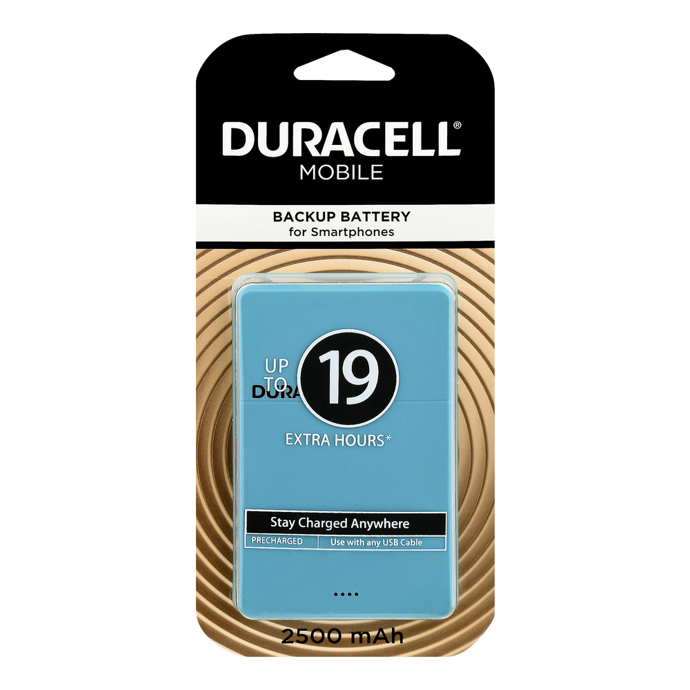 Duracell Mobile Backup Battery for Smartphones Up To 19 Extra Hours, 1.0 CT