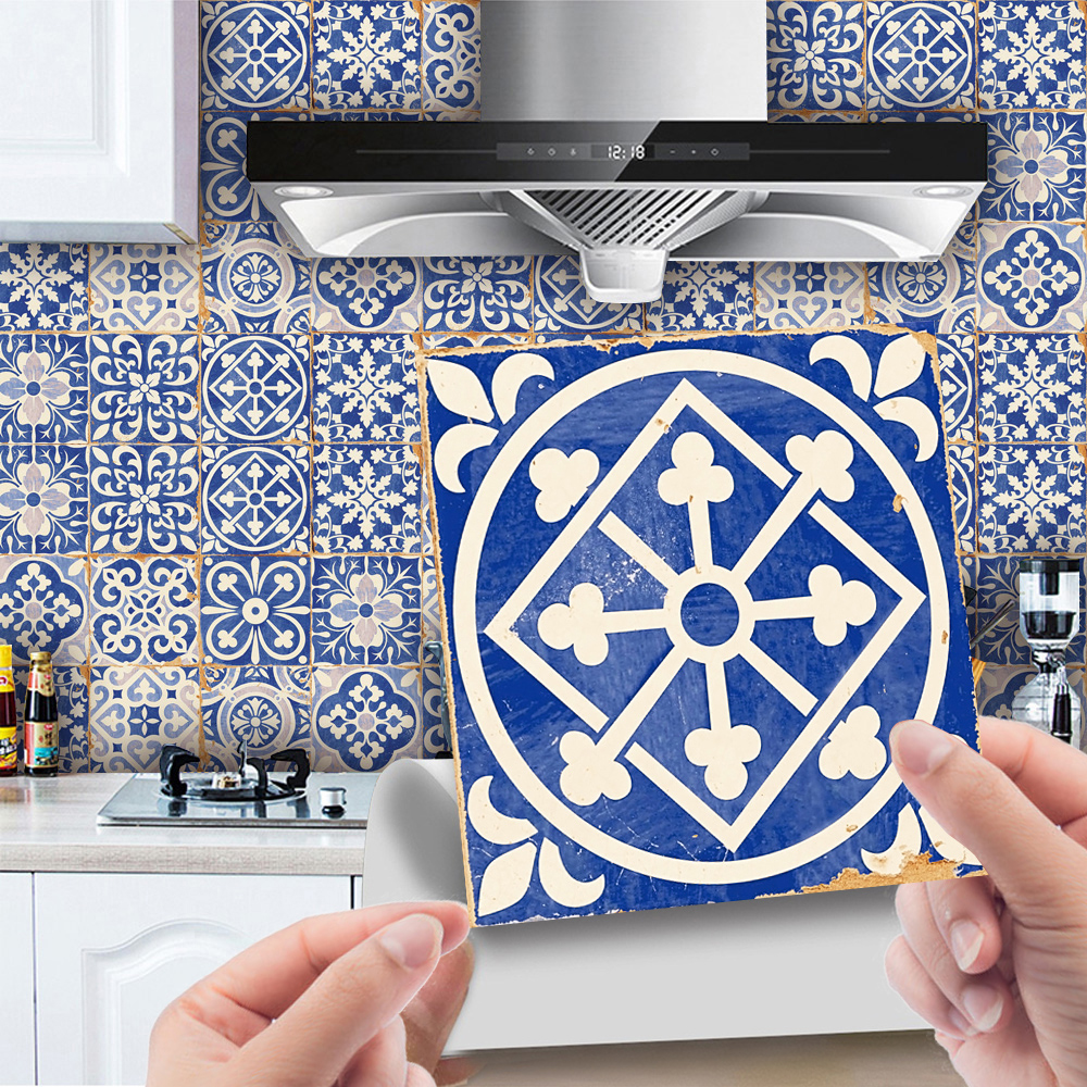 Details about  /Traditional Tile Sticker Moroccan Self Adhesive Decal For Kitchen Bathroom DIY