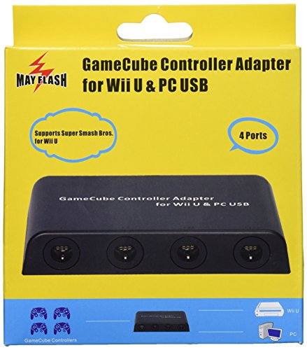 4 Port PC USB and Switch Mayflash GameCube Controller Adapter for Wii U