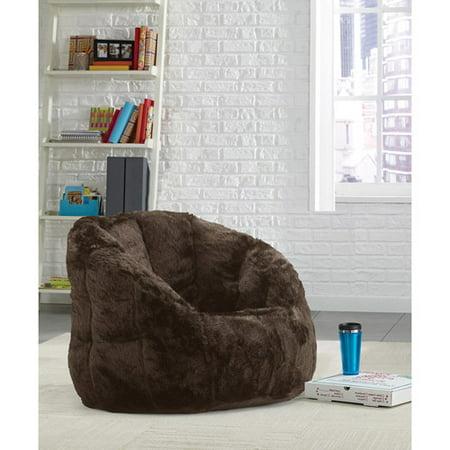 bcba2c28fae0 Urban Shop Cocoon Faux Fur Bean Bag Chair